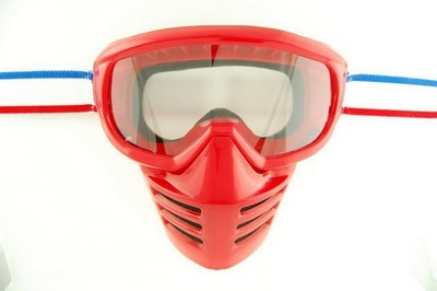 Brille Moto ENDURO, FACE SHIELD Rot