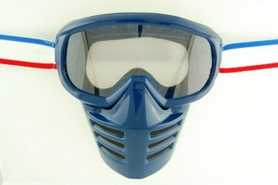 Brille Moto ENDURO, FACE SHIELD Blau
