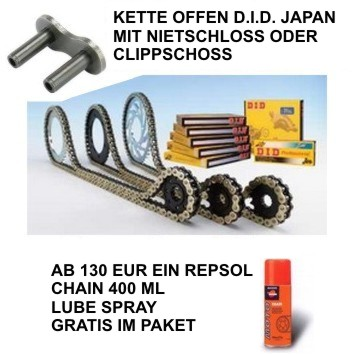 Kettensatz BMW F850 GS 18-19 DID Japan VX3 Gold
